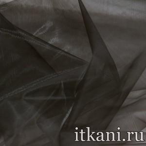 Ткань Органза, цвет коричневый (3441)