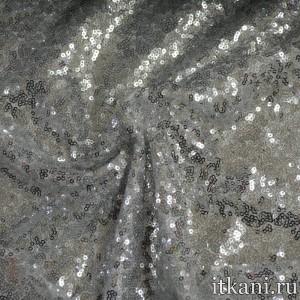 Ткань Сетка с пайетками 5395