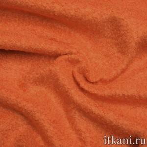 Шерсть пальтовая букле, цвет оранжевый (5110)