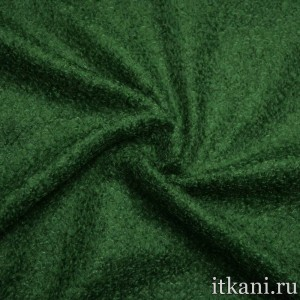 Шерсть пальтовая букле, цвет зеленый (5119)
