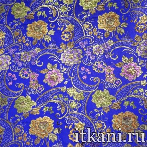 Ткань Китайский Шелк, узор турецкий огурец (2974)