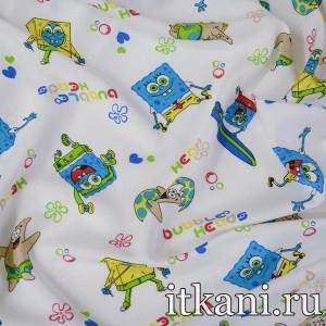 Ткань хлопковая с детским принтом 4493 цвет разноцветный