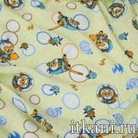 Ткань хлопковая с детским принтом