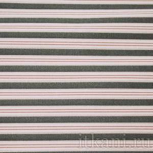 Ткань Рубашечная красная полоска, узор полоска (0539)