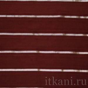Ткань Рубашечная бордовая, узор полоска (0541)