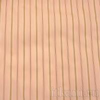 Ткань Рубашечная персиковая в полоску