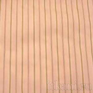 Ткань Рубашечная персиковая в полоску, узор полоска (0547)