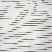Ткань Рубашечная белая в черную полоску