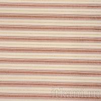 Ткань Рубашечная кремовая в блестящую розовую полоску