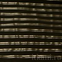 Ткань Рубашечная черная в серебряно-золотую полоску