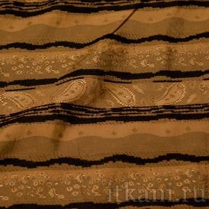 "Ткань Рубашечная ""Бежевый огурец"", узор турецкий огурец (0555)"