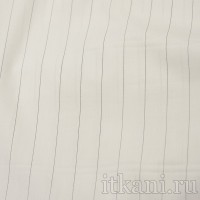 Ткань Рубашечная белая в тонкую черную полоску