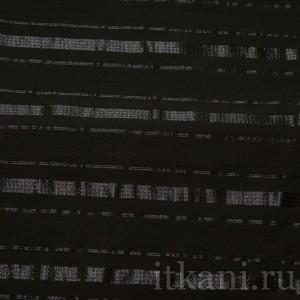 Ткань Рубашечная стильная черная в полоску, узор полоска (0559)