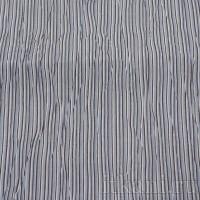 Ткань Рубашечная белая в черно-голубую полоску