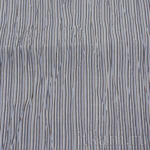 Ткань Рубашечная белая в черно-голубую полоску, узор абстрактный (0560)