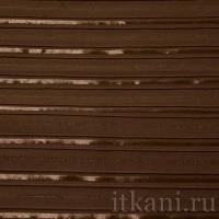 Ткань Рубашечная кофейная в полоску