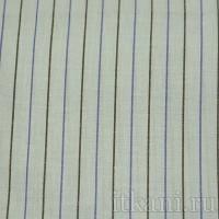 Ткань Рубашечная голубая в сине-черную полоску