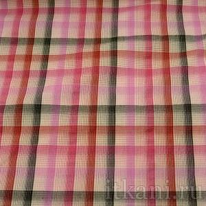 Ткань Рубашечная розовая в клетку (0567)
