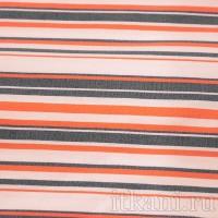 Ткань Рубашечная белая в красно-черную полоску