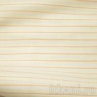 Ткань Рубашечная белая в разноцветную полоску