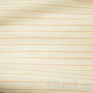Ткань Рубашечная белая в разноцветную полоску, узор полоска (0576)