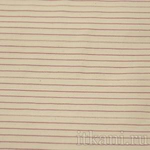 """Ткань Костюмная бежевая в красную полоску  """"Мидлсбро"""" (0647)"""