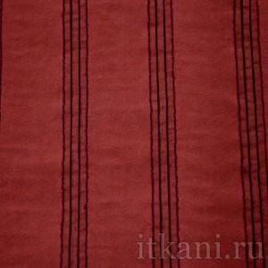 """Ткань Костюмная красная в полоску """"Норидж"""" (0658)"""