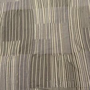 Ткань Костюмная желто-черная в полоску (0659)