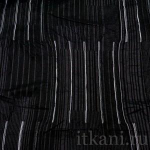 """Ткань Костюмная черно-белая в полоску """"Норидж"""" (0660)"""