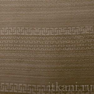 Ткань Костюмная цвета экрю, узор геометрический (0662)