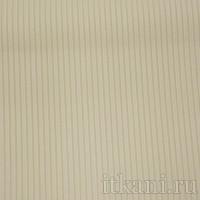 Ткань Костюмная белая в желтую полоску