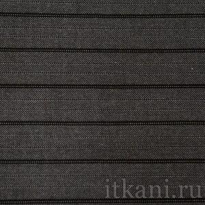 """Ткань Костюмная черно-белая в полоску """"Троубридж"""" (0714)"""