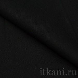 """Ткань Костюмная черная """"Брихин"""", цвет черный (0744)"""