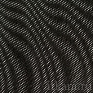 """Ткань Костюмная черная в белую точку """"Долфин"""", узор геометрический (0760)"""