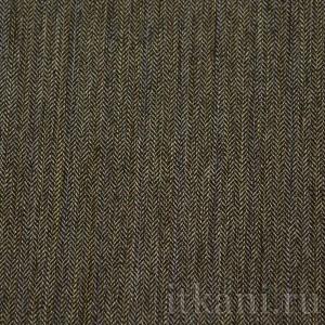 """Ткань Костюмная с узором елочка """"Лит"""", цвет серый (0785)"""