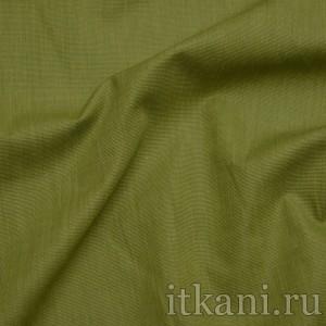 """Ткань Рубашечная травяного цвета """"Бенджамин"""", цвет зеленый (0807)"""