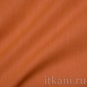 """Ткань Рубашечная морковного цвета """"Дэйв"""", цвет оранжевый (0834)"""