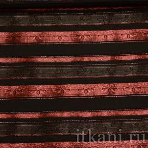 """Ткань Рубашечная красно-черная в полоск """"Генри"""" (0874)"""