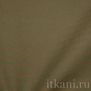 """Ткань Костюмная серо-красная """"Кит"""", узор полоска (0888)"""