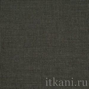 """Ткань Костюмная серо-черная """"Кеннет"""", узор геометрический (0889)"""