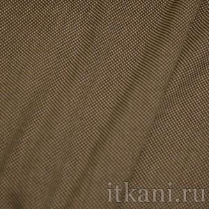 """Ткань Костюмная черно-бежевого цвета """"Филип"""", узор геометрический (0921)"""