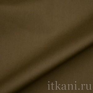 "Ткань Костюмная темного оливково-коричневого цвета ""Аланна"""