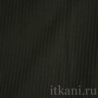 """Ткань Костюмная черного цвета в полоску """"Кэтлин"""""""