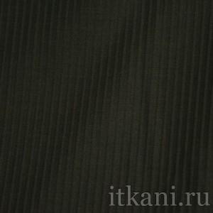 """Ткань Костюмная черного цвета в полоску """"Кэтлин"""", узор полоска (1060)"""