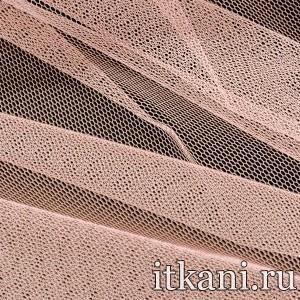 Ткань Фатин Жесткий, цвет розовый (4350)