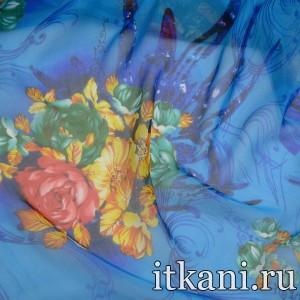 Ткань Шелк, узор цветочный (5008)