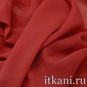 Ткань Шифон однотонный, цвет красный (2864)