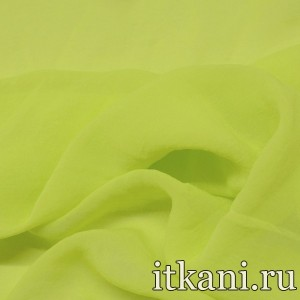 Ткань Шифон однотонный, цвет зеленый (2887)