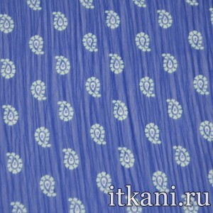Ткань Шифон Набивной, узор турецкий огурец (3717)