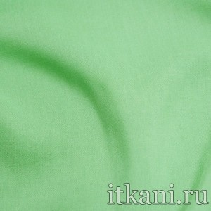 Ткань Штапель однотонный, цвет зеленый (1509)
